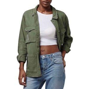 Topshop Authentic Washed Khaki Jacket